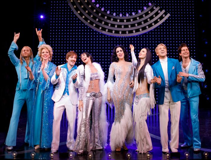 "Berresse (second from right) poses with ""The Cher Show"" cast. ""My work onstage has been a real joy."" he said"