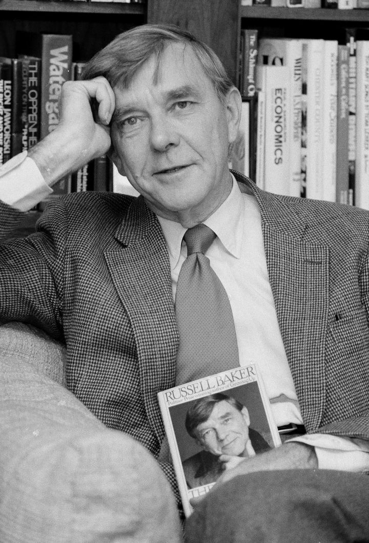 """Baker won Pulitzers in 1979 for the """"Observer,"""" the Times column he wrote for 35 years, and in 1983 for his autob"""