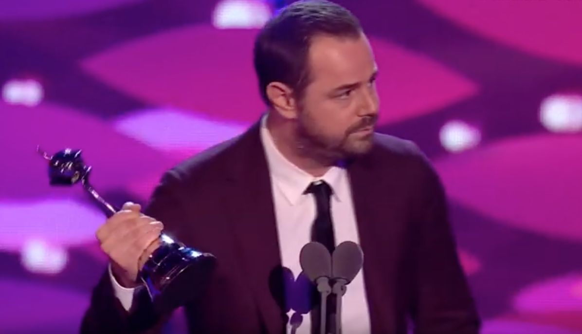 EMOTIONAL: Danny Dyer Gets Tearful (And Sweary) As He Dedicates NTAs Win To Harold