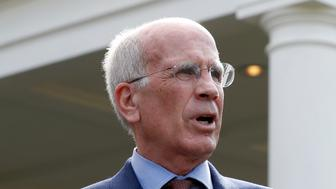 Rep. Peter Welch, D-Vt., speaks with the media in front of the West Wing after a bipartisan meeting with President Donald Trump at the White House, Wednesday, Sept. 13, 2017, in Washington. (AP Photo/Alex Brandon)