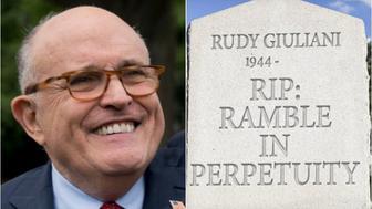 Stephen Colbert and Rudy Giuliani