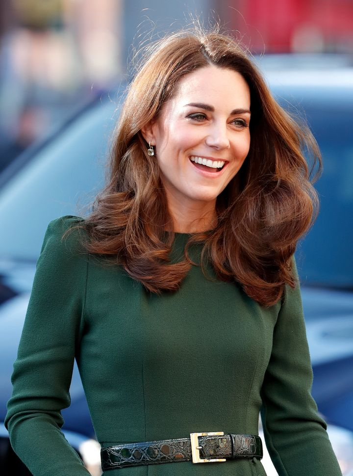 The Duchess of Cambridge visits Family Action to launch a new national support line on Jan. 22 in Lewisham, England. Family A