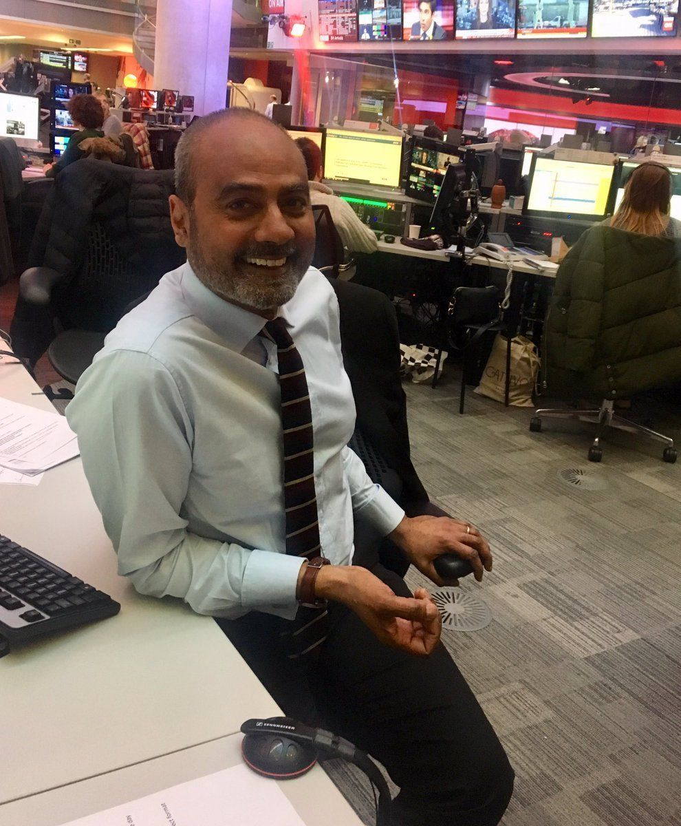 BBC News' George Alagiah Returns To Work A Year After Being Told His Cancer Had Come