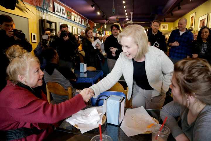 Sen. Kirsten Gillibrand (D-N.Y.) campaigned in Sioux City, Iowa, last weekend just after announcing her presidential candidac