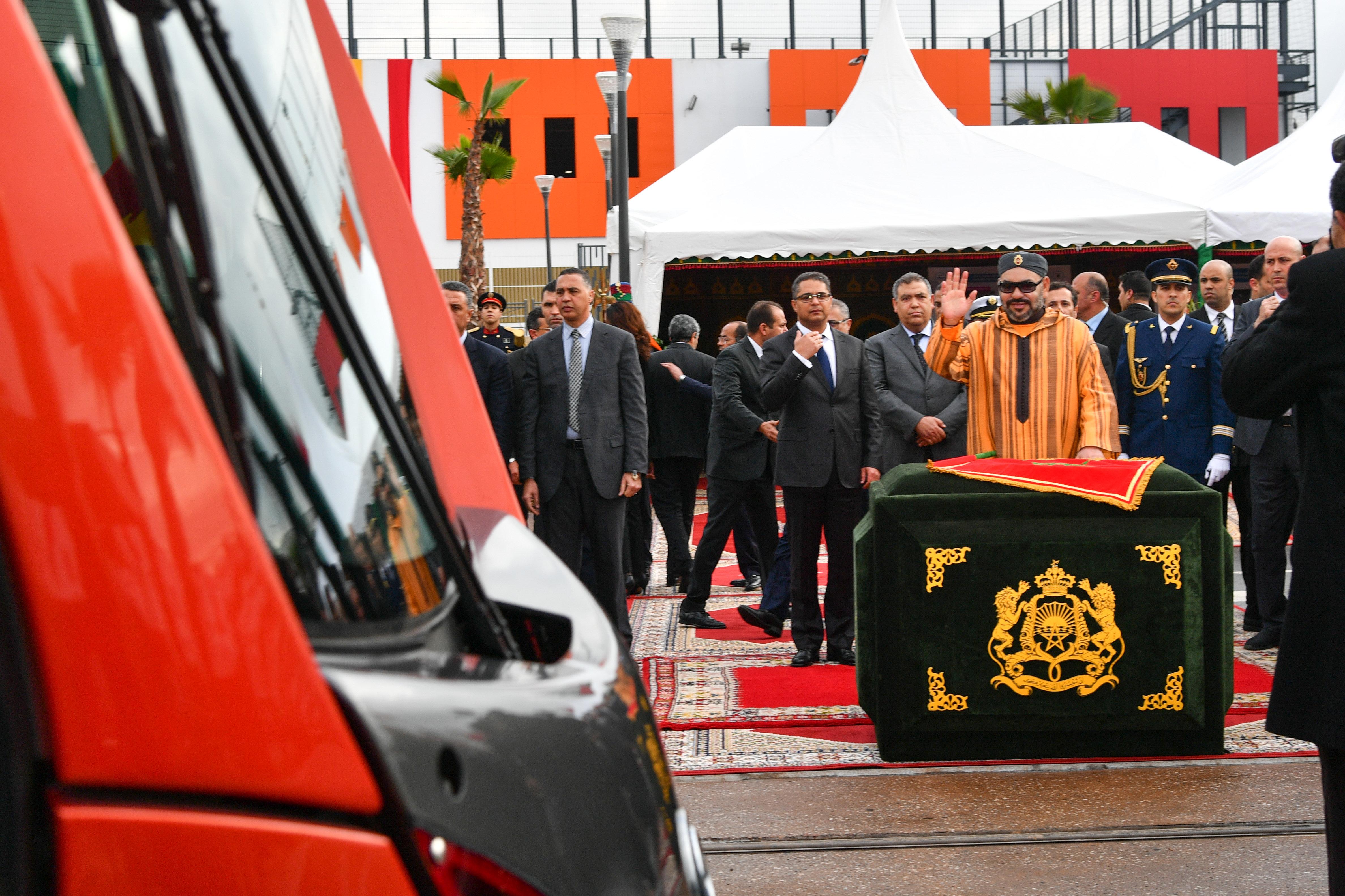 Le roi Mohammed VI lance la mise en service de la deuxième ligne du tramway de