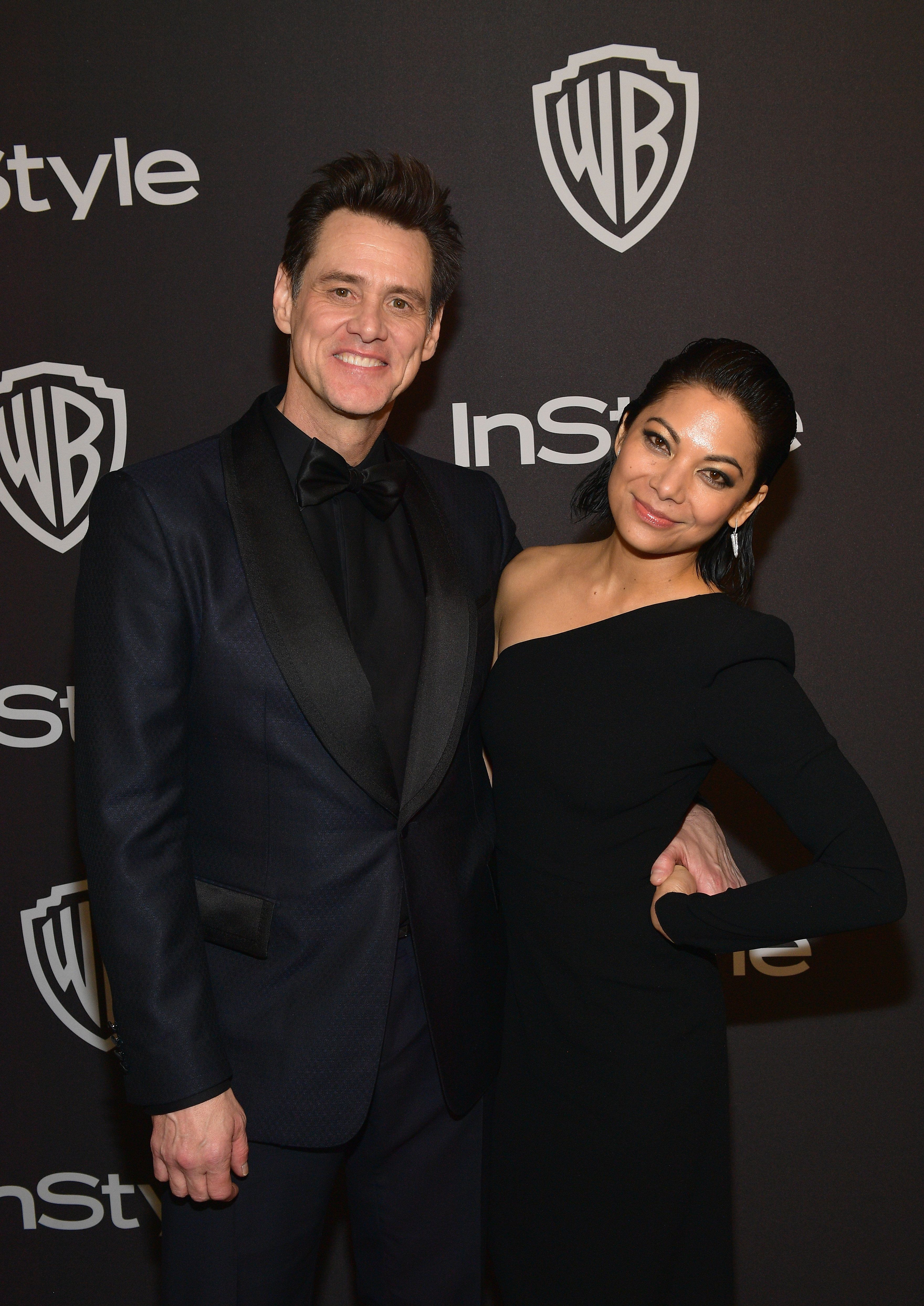 BEVERLY HILLS, CA - JANUARY 06: Jim Carrey and Ginger Gonzaga attends the 2019 InStyle and Warner Bros. 76th Annual Golden Globe Awards Post-Party at The Beverly Hilton Hotel on January 6, 2019 in Beverly Hills, California.  (Photo by Matt Winkelmeyer/Getty Images for InStyle)