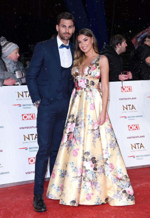 Adam and girlfriend Zara