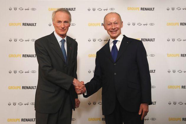 Jean-Dominique Senard, à gauche, a été élu président du conseil d'administration....