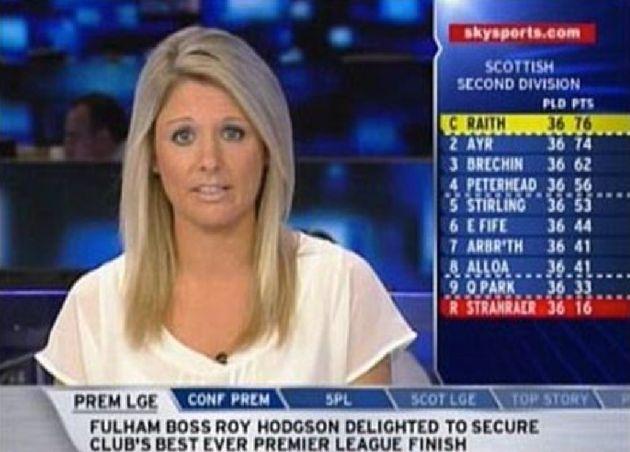 Chloe Everton presenting Sky Sports