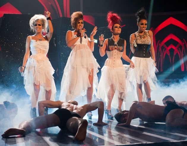 Sophia Wardman (far left)made the live shows of 'X Factor' as a member of girl group Belle