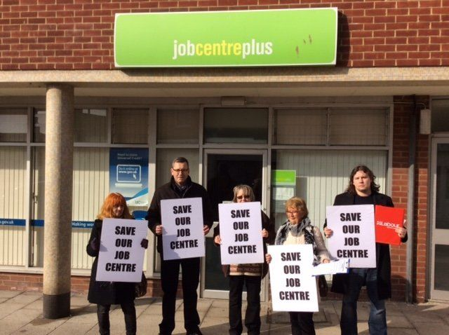 Campaigners outside Herne Bay job centre a few weeks before it