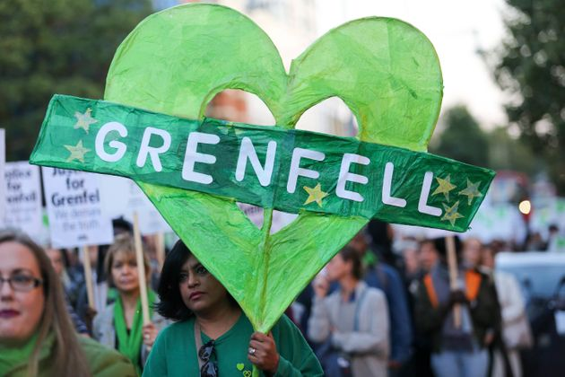 A march to remember those who lost their lives in the Grenfell