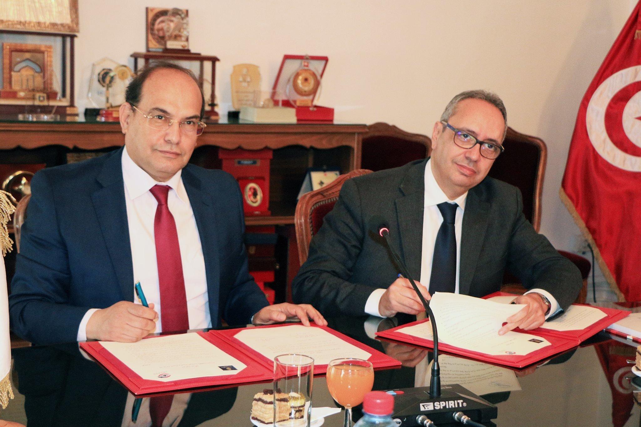 Signature d'un accord de coopération entre l'INLUCC et le ministère de la