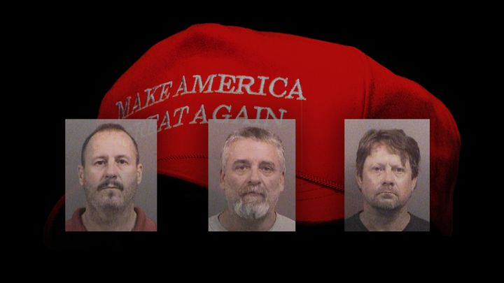 (From left) Curtis Allen Gavin Wright and Patrick Stein were convicted last April for plotting to bomb a Garden City, Ka