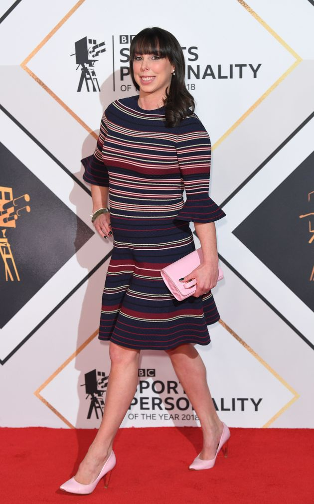 Beth at the BBC Sports Personality Of The Year awards last