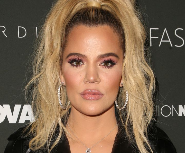 Khloe Kardashian arrives at a Fashion Nova event in January.