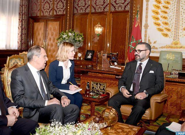Le roi Mohammed VI reçoit le ministre des Affaires étrangères Russe, Serguei