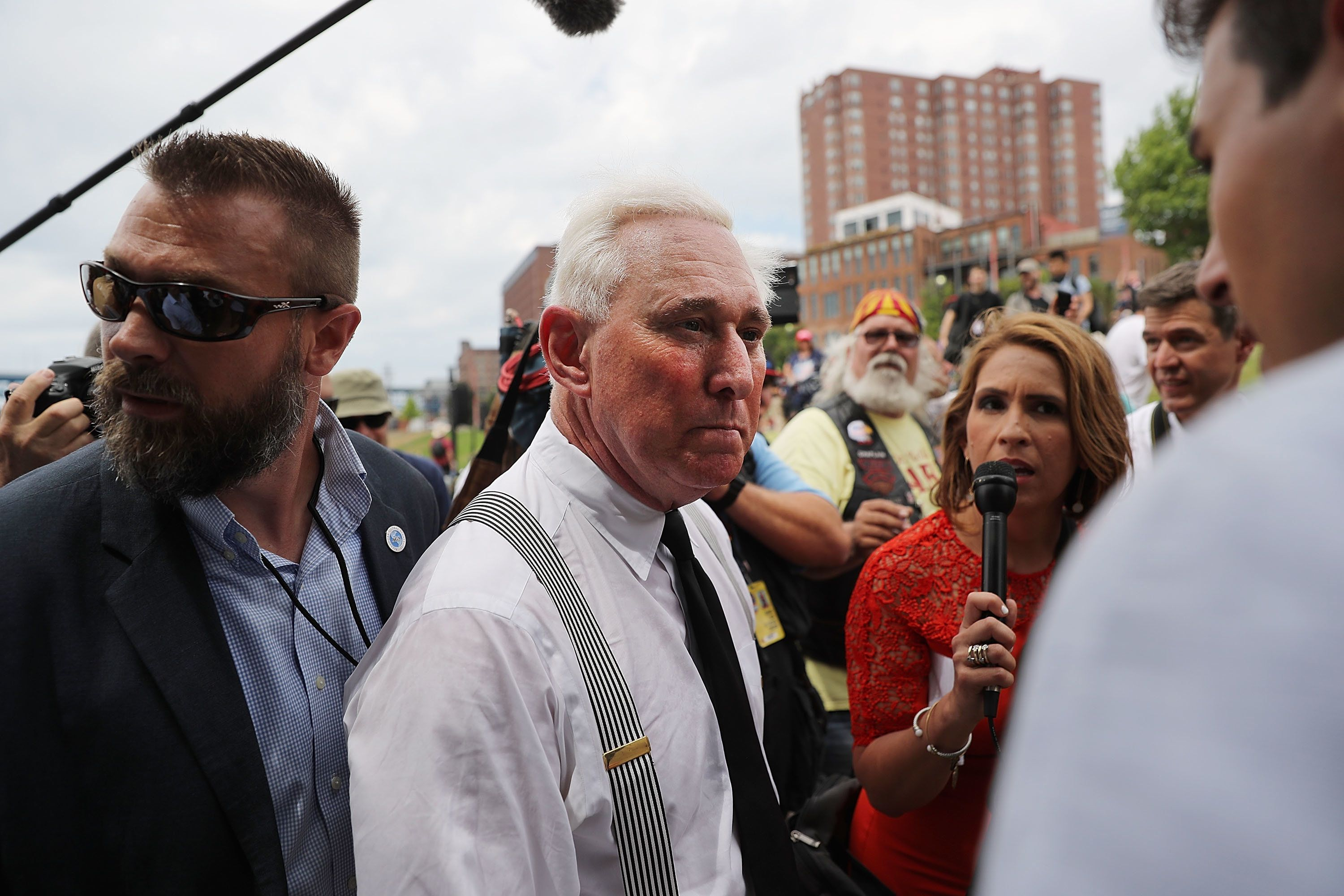 Spencer Platt via Getty Images Roger Stone on the campaign trail