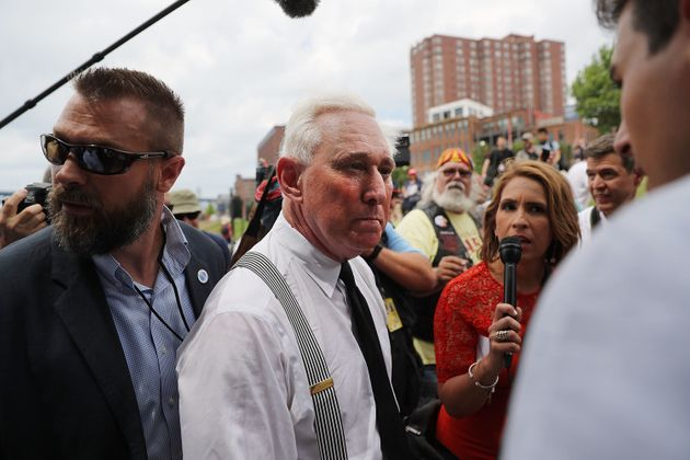 Roger Stone on the campaign trail in July 18, 2016 in Cleveland,