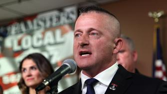 LOUISVILLE, KY - NOVEMBER 19: WV State Senator Richard Ojeda addresses campaign supporters during his first campaign event of his presidential run at a rally at the Teamsters 783 head quarters on November 19, 2018 in Louisville, Kentucky.  Ojeda, a retired Army major, announced his presidential bid for 2020. (Photo by John Sommers II/Getty Images)