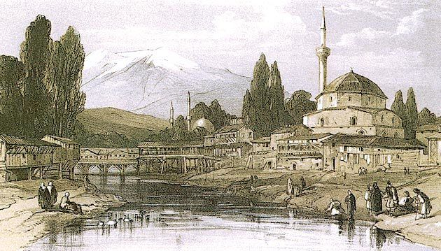 Απεικόνιση του Μοναστηρίου (Μπίτολα) του 19ου