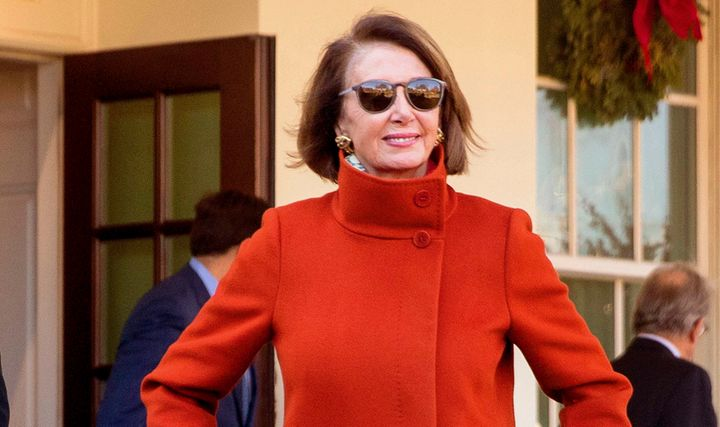 Residence Speaker Nancy Pelosi (D-Calif.), confidently leaving the White Residence after a assembly in December, snappy grew to change into a meme
