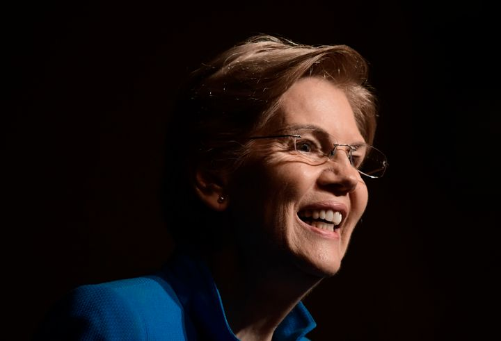 Sen. Elizabeth Warren (D-Mass.) speaks in San Juan, Puerto Rico, on Jan. 22, 2019. Warren has made tackling economic inequali