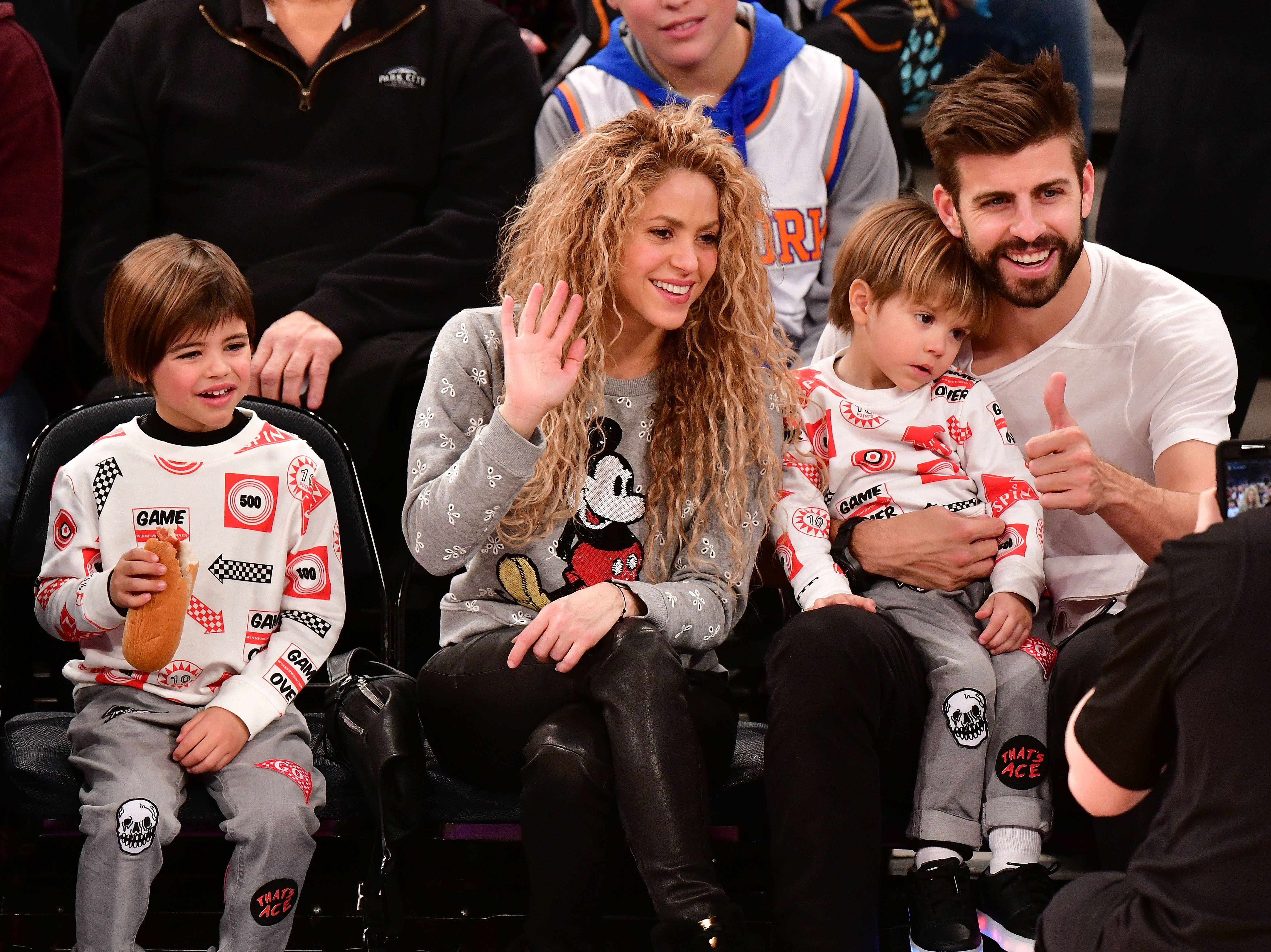Shakira and Gerard Piqué have two sons.