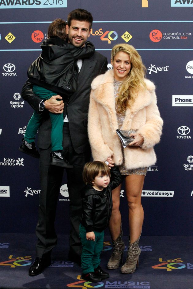 Shakira's two sons are named Milan and