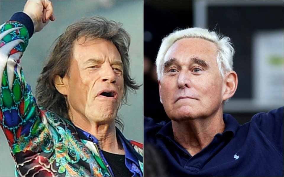 Roger Stone and Rolling Stones