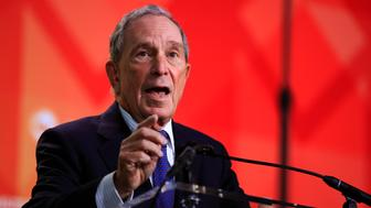 Former New York City Mayor Michael Bloomberg speaks to the U.S. Conference of Mayors meeting in Washington, Friday, Jan. 25, 2019. (AP Photo/Manuel Balce Ceneta)