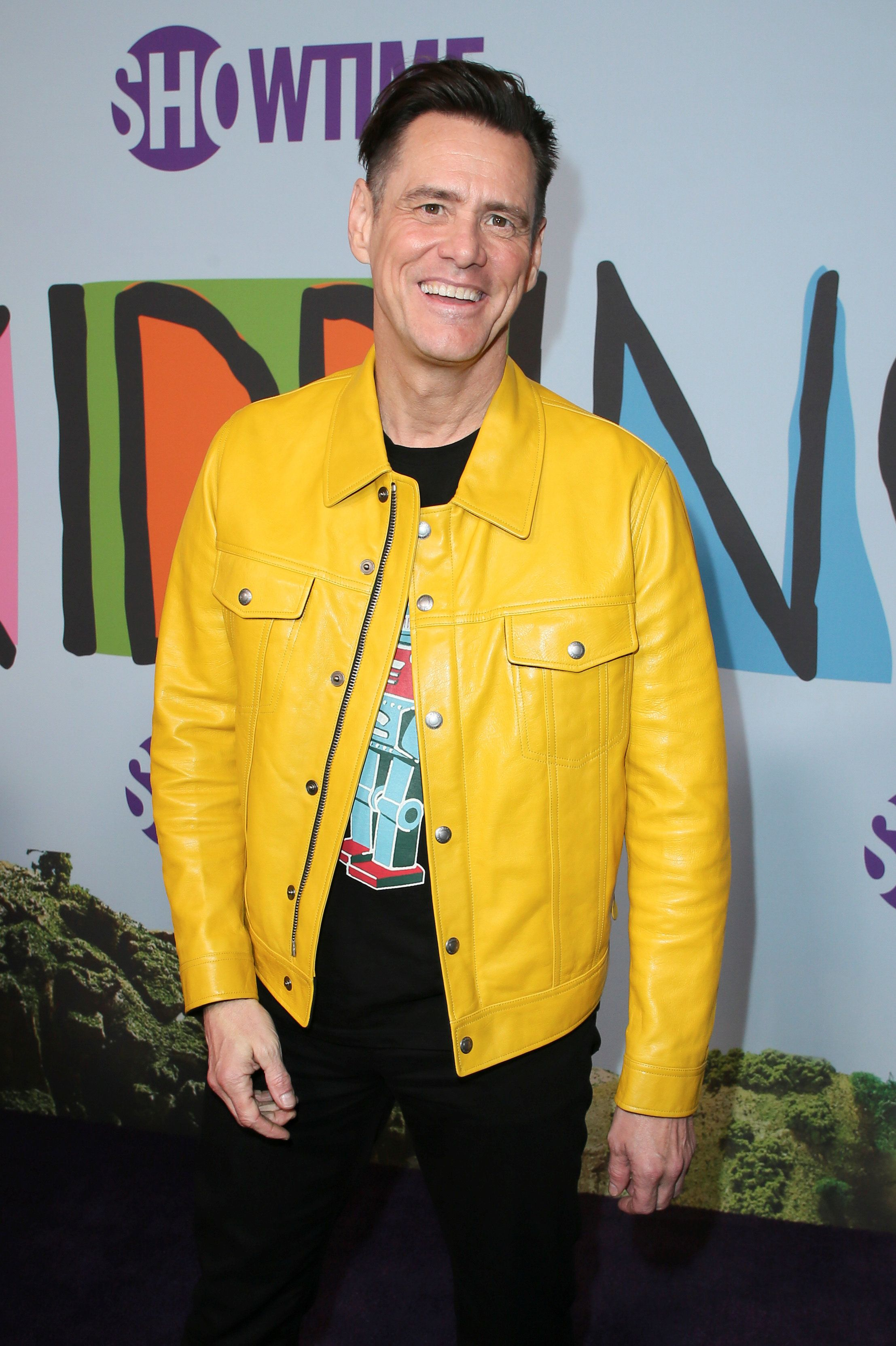 "Actor Jim Carrey poses at the premiere of Showtime's ""Kidding"" at the Arclight Hollywood in Los Angeles, September 5, 2018.  REUTERS/Danny Moloshok"