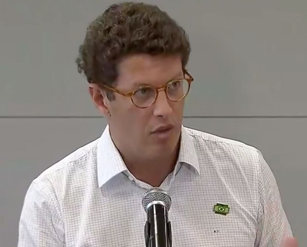 Ricardo Salles, ministro do Meio Ambiente, concede entrevista em Belo