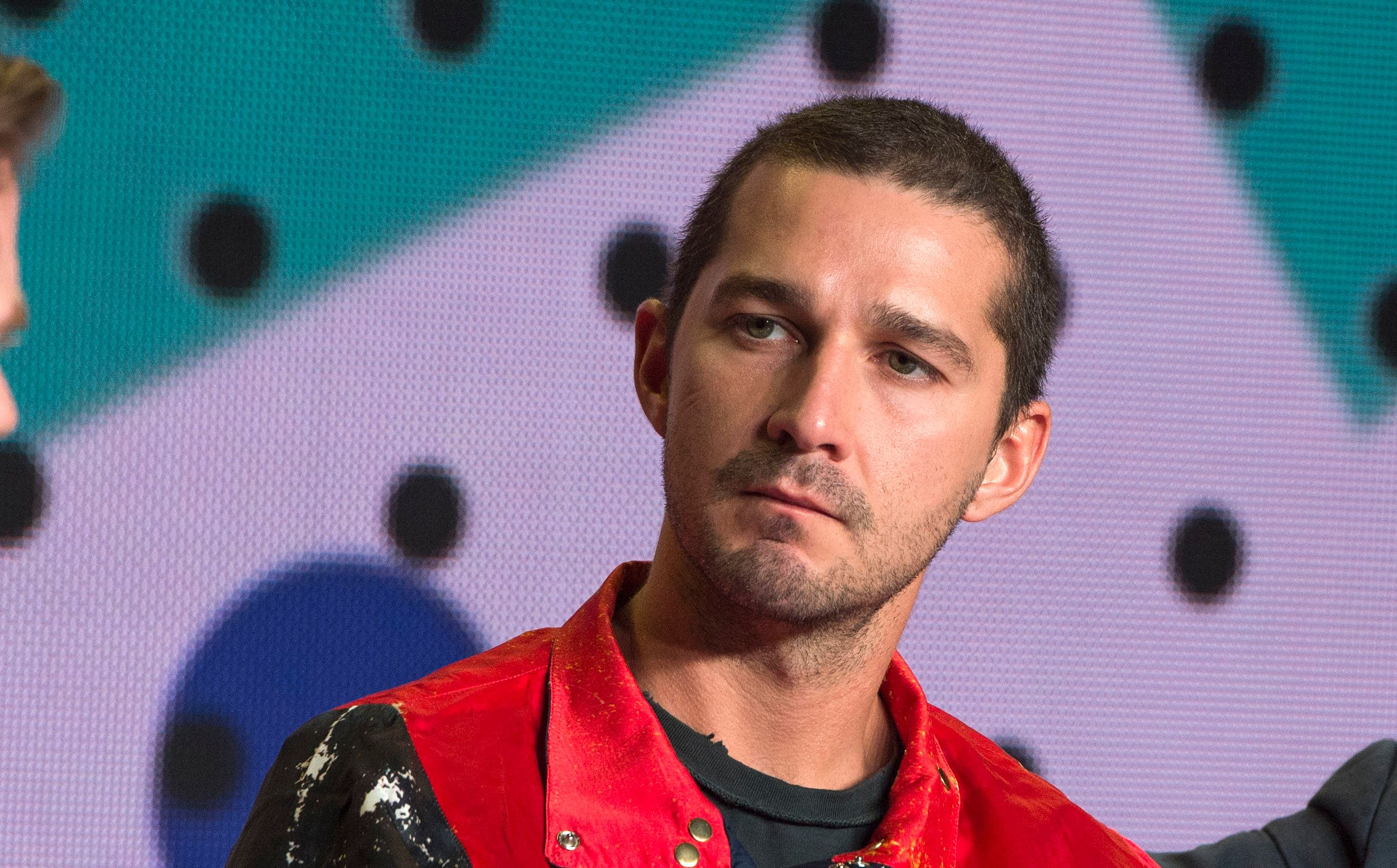 Actor Shia LaBeouf attends the press conference for 'Borg/McEnroe' during the 2017 Toronto International Film Festival at TIFF Bell Lightbox September 7, 2017, in Toronto, Ontario. / AFP PHOTO / VALERIE MACON        (Photo credit should read VALERIE MACON/AFP/Getty Images)