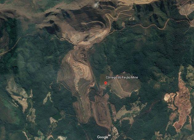 Vista aérea da mina Córrego do Feijão, em