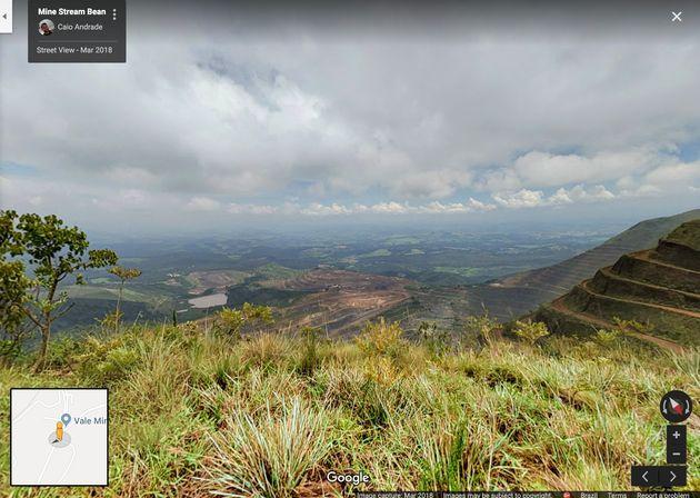 Vista da mina Córrego do Feijão, antes do rompimento da barragem, em