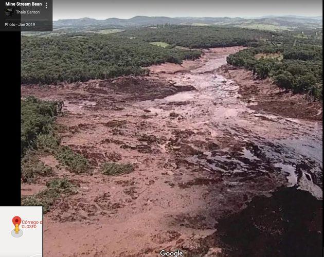 Mina Córrego do Feijão após rompimento da barragem em Brumadinho