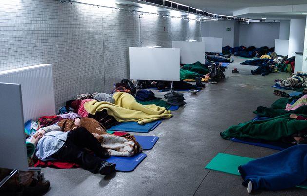 Notunterkunft in Frankfurt am