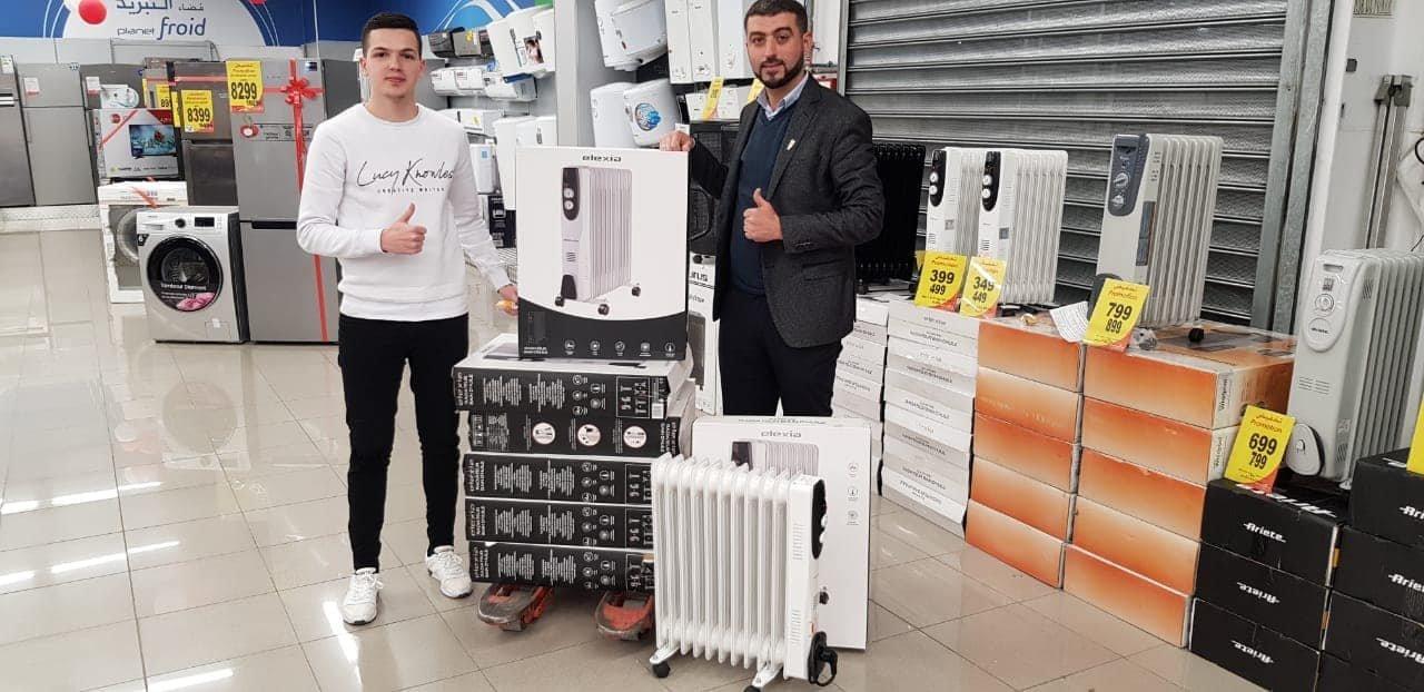 Le professeur d'Al Hoceima Hicham Alfaquih achète des chauffages pour ses
