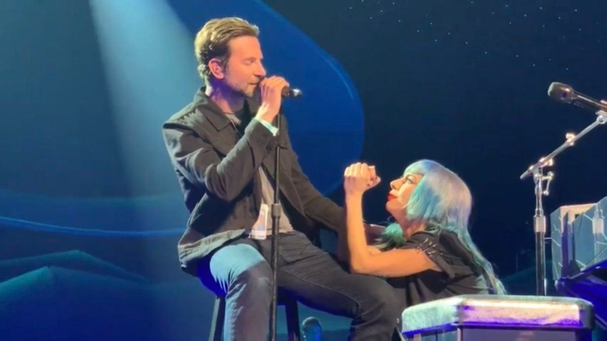A Star is Born collaborators delivered the surprise performance during Gaga's concert in Las Vegas on Saturday night.