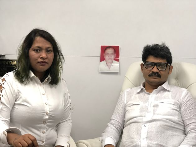 Advocate Gunaratne Sadavarte with his wife Jayashri Patil. Patil is the petitioner against Maratha reservation...