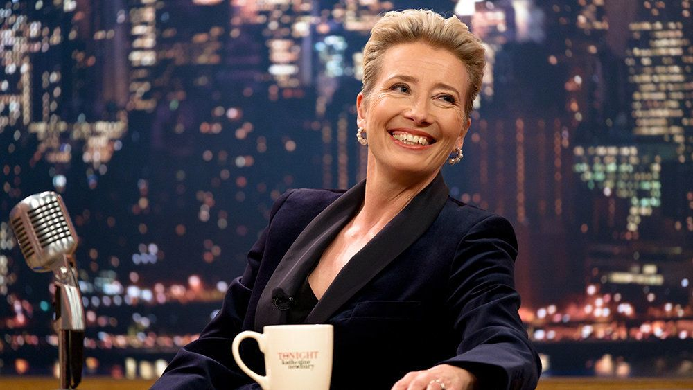 Emma Thompson appears in <i>Late Night</i> by Nisha Ganatra, an official selection of the Premieres program at the 2019 Sundance Film Festival. Courtesy of Sundance Institute | photo by Emily Aragones.   All photos are copyrighted and may be used by press only for the purpose of news or editorial coverage of Sundance Institute programs. Photos must be accompanied by a credit to the photographer and/or 'Courtesy of Sundance Institute.' Unauthorized use, alteration, reproduction or sale of logos and/or photos is strictly prohibited.