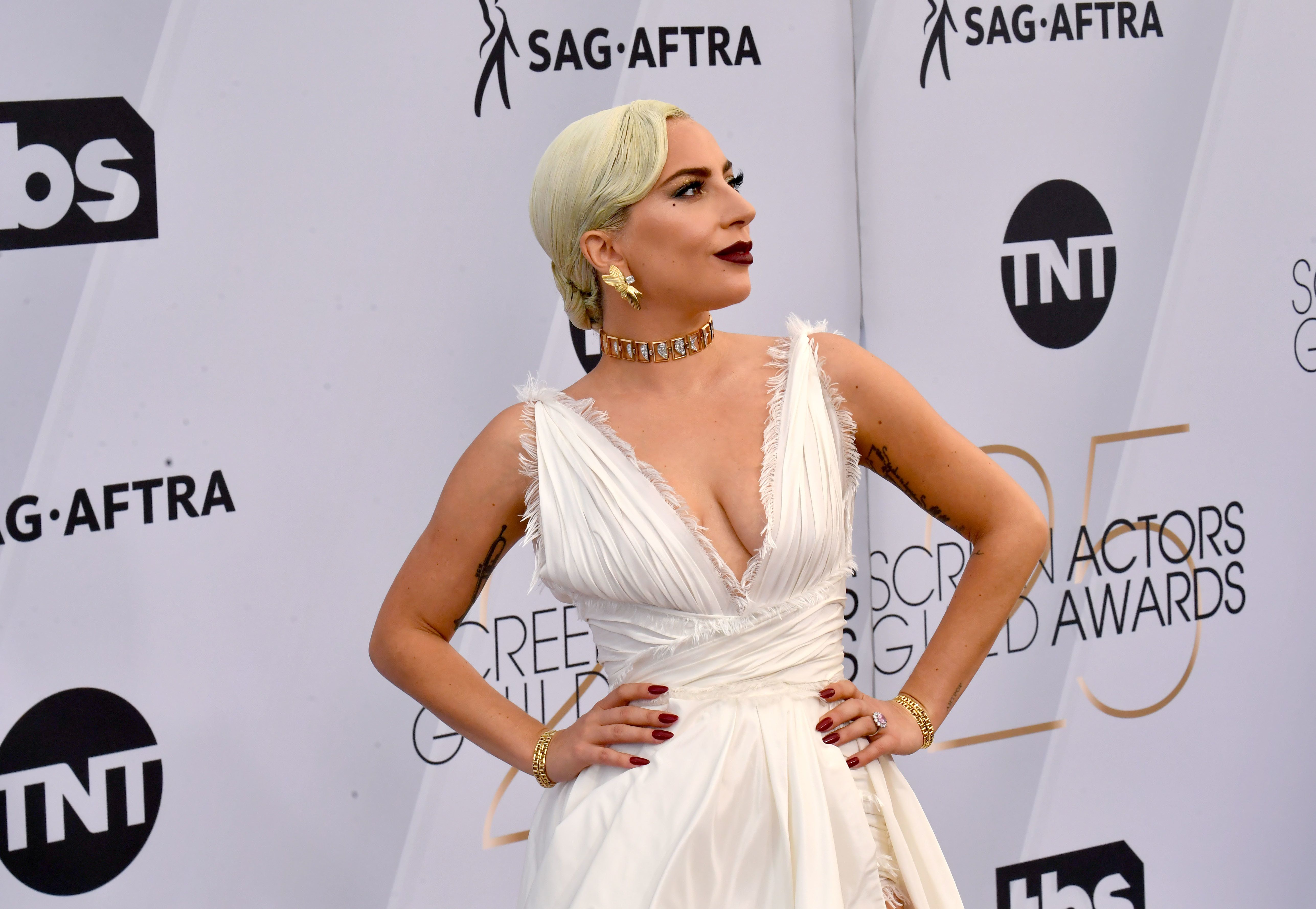 LOS ANGELES, CALIFORNIA - JANUARY 27:  Lady Gaga  attends the 25th Annual Screen Actors Guild Awards at The Shrine Auditorium on January 27, 2019 in Los Angeles, California. (Photo by Jeff Kravitz/FilmMagic)