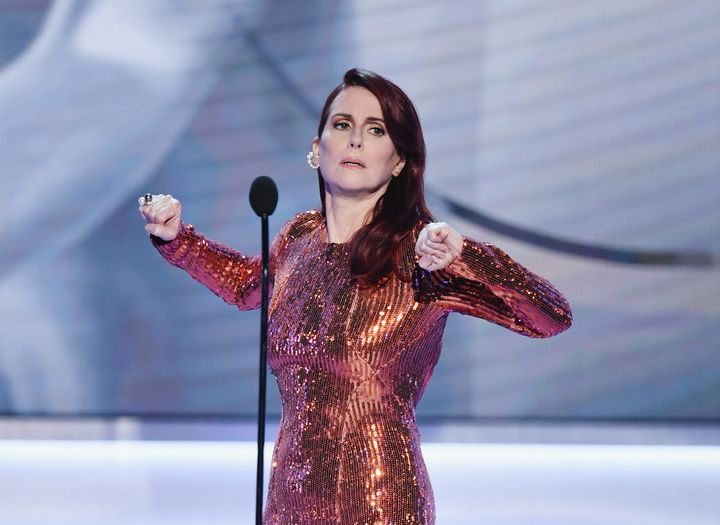 Megan Mullally opens the 25th annual SAG Awards on Sunday night.