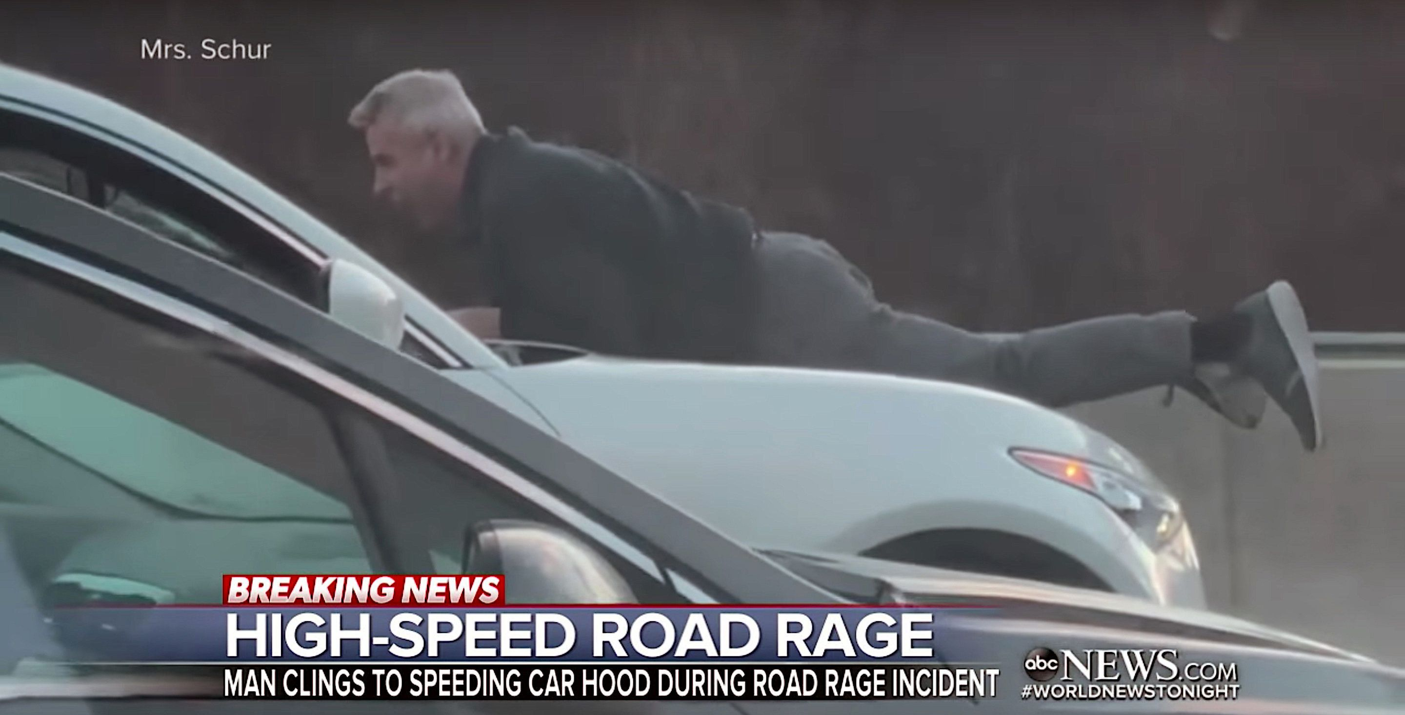 Man Clings To Hood Of Suv In High S D Road Rage Incident