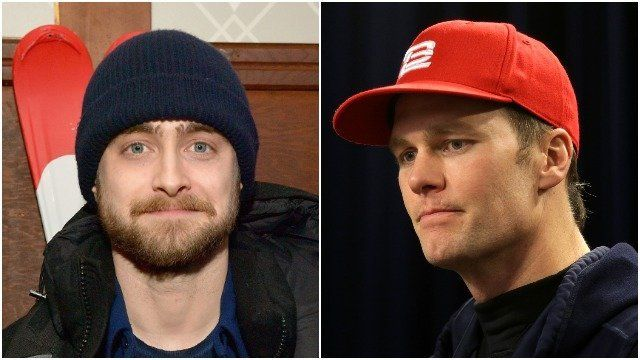 "The ""Harry Potter"" star has no love for the New England Patriots quarterback"