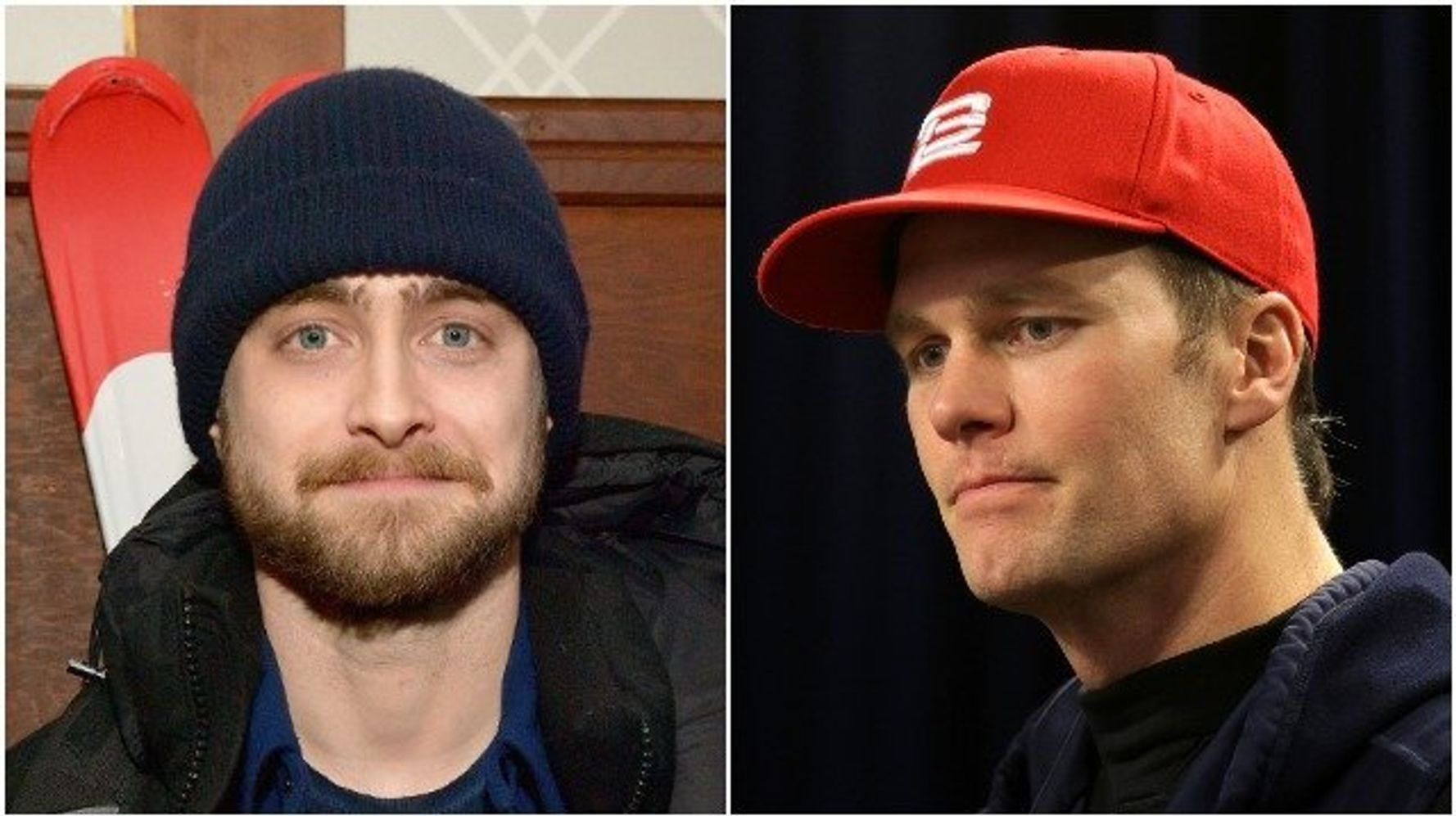 e2a17890 Daniel Radcliffe Rips Tom Brady's MAGA Hat, Says He's Backing Rams ...