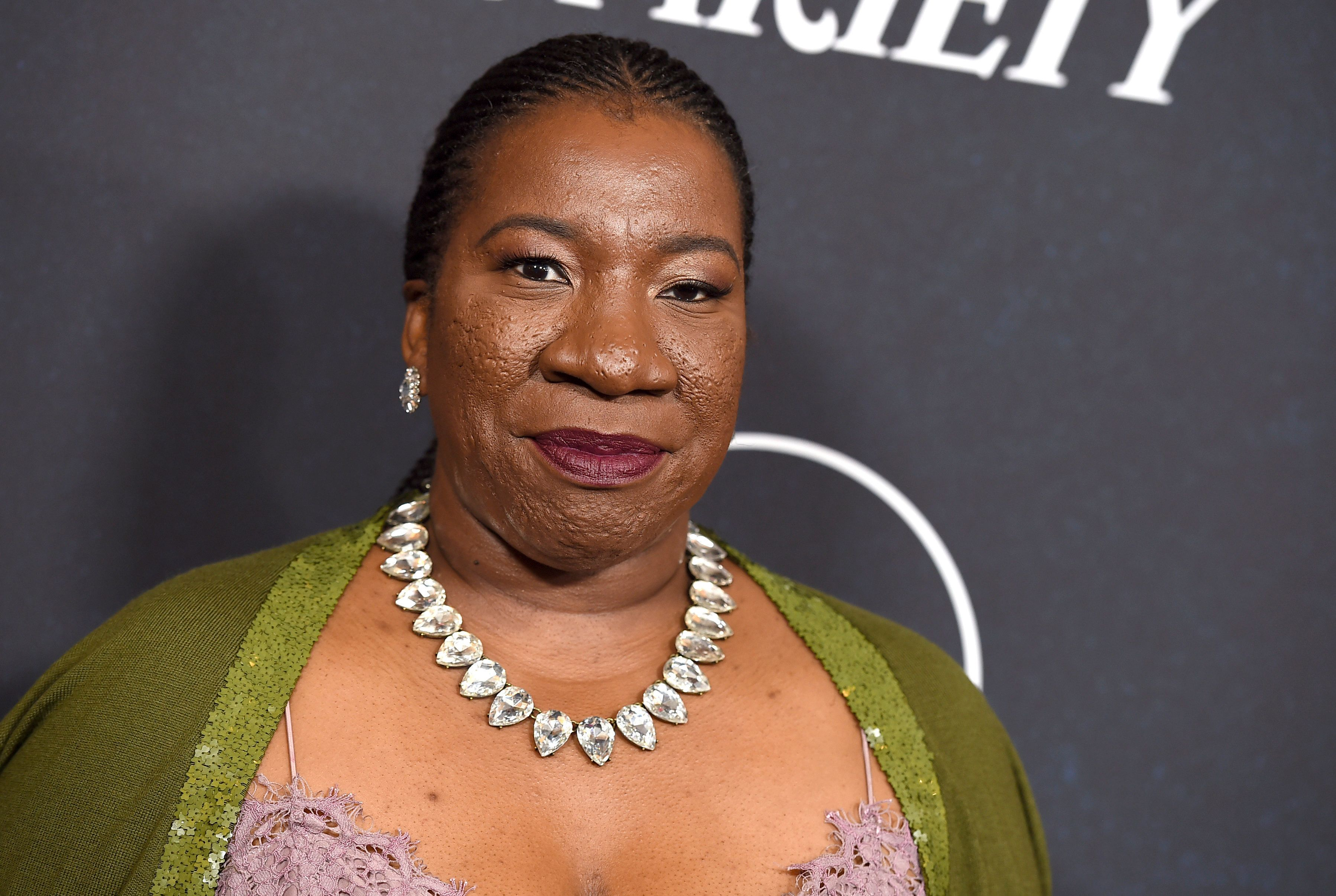 FILE - In this Oct. 12, 2018 file photo, #MeToo founder Tarana Burke arrives at Variety's Power of Women event in Beverly Hills, Calif. Eight groups across the nation have been awarded funding from the New York Women's Foundation for their efforts to fight sexual violence. The groups in this first round of funding, chosen in consultation with Burke, are focused on underserved communities such as communities of color, immigrant communities and LGBTQ people. (Photo by Jordan Strauss/Invision/AP, File)