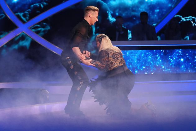 Matt helped Gemma back onto her