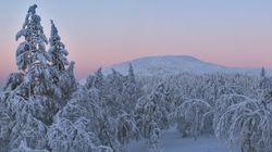 핀란드의 '산타마을'에 영하 38.7도의 강추위가